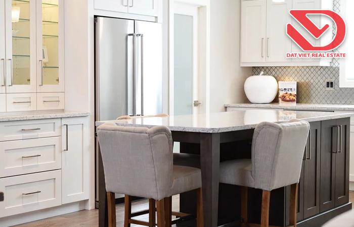 Nhà bếp, khu vệ sinh cần có sự tách biệt để vừa đảm bảo tính thẩm mỹ, vừa đảm bảo độ an toàn vệ sinh khi sử dụng